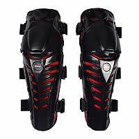 VEMAR S-155 Knee Protectors, Black/Red Мотонаколенники защитные шарнирные (пара, черный), фото 1