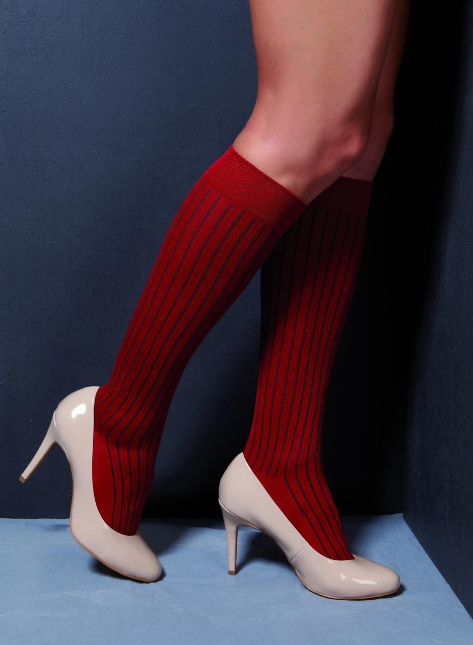 Компрессионные гольфы для повседневного ношения и путешествий в современных цветах  р.L цвет Красный