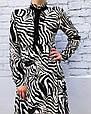 Платье женское Зебра длинный рукав Размер М, фото 2