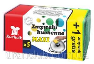 Губки   для посуды   maxi 5 шт + 1 экстра KUCHCIK