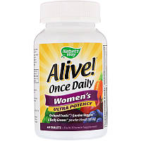 Мультивитамины для женщин Alive, Nature's Way (60 таблеток)