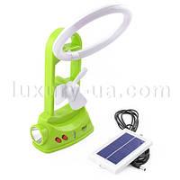 Фонарь лампа аккумуляторная Yajia 5851 TF, 1W+36SMD + солнечная панель
