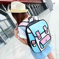 Стильный рюкзак. 3D рюкзак. Современный рюкзак. Недорогой рюкзак. Код:КРСК131, фото 1