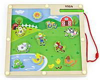 Детский магнитный лабиринт Viga Toys Ферма (50193)