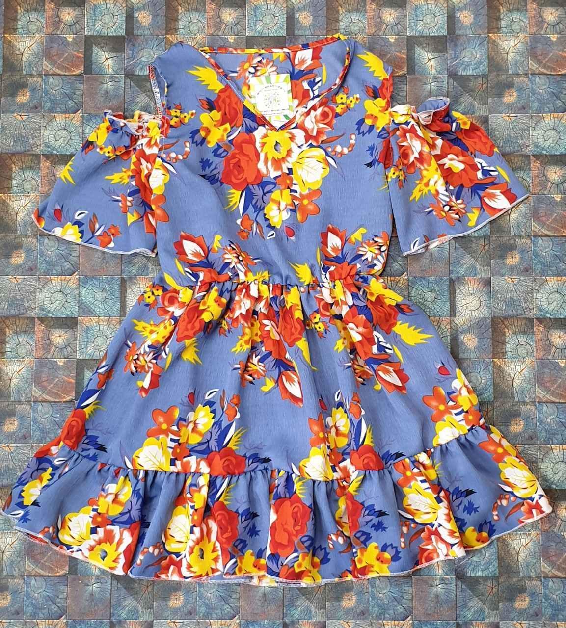 Детский  сарафан на лето для девочки Цветочки р. 134-152