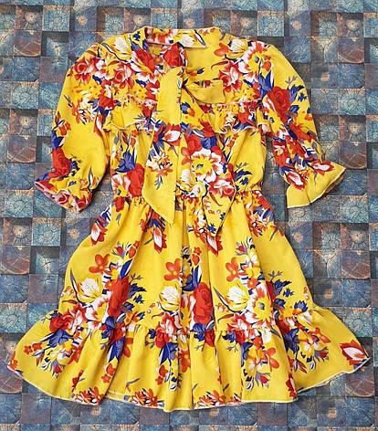 Детский красочный  сарафан для девочки Цветочки р. 128-146, фото 2