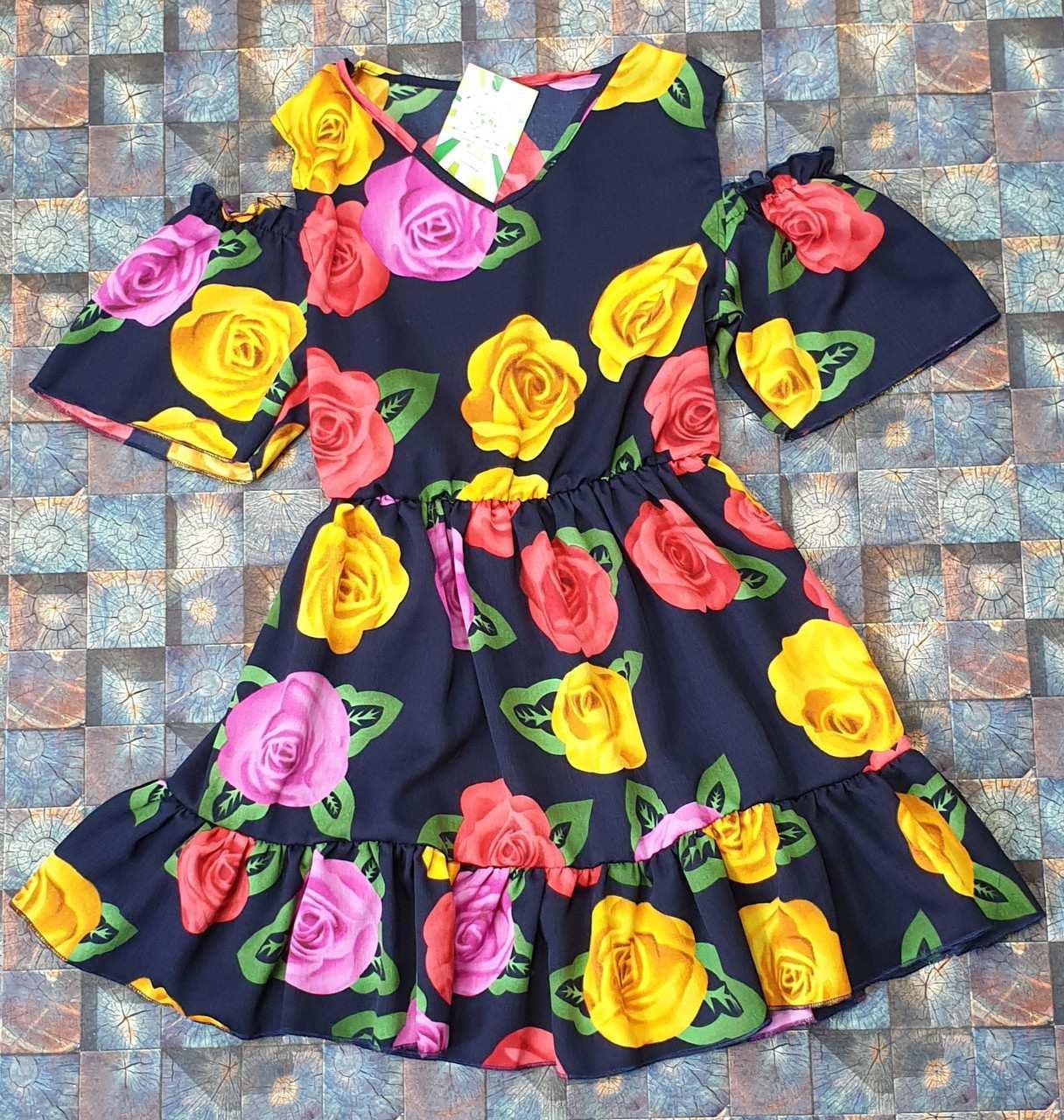 Летний детский  сарафан для девочки Роза р. 128-146