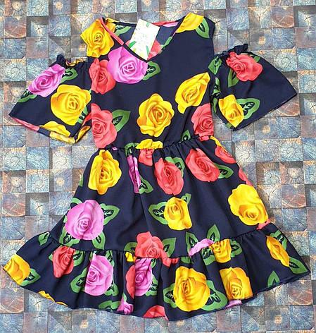 Летний детский  сарафан для девочки Роза р. 128-146, фото 2