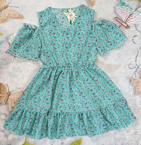 Летний детский сарафан  для девочки Цветочки р. 134-152, фото 2