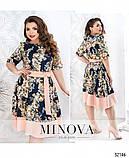 Женственное приталенное платье в цветок р. с 50 по 60, фото 3