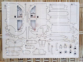 Дерев'яний конструктор 3D пазл Volkswagen, фото 2