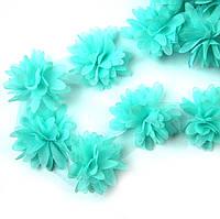 Шифоновые цветы 4см, мятные 1шт
