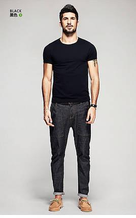 """Мужская футболка 100% Хлопок Марка """"COSTOM"""" Арт.1823 (черный), фото 2"""