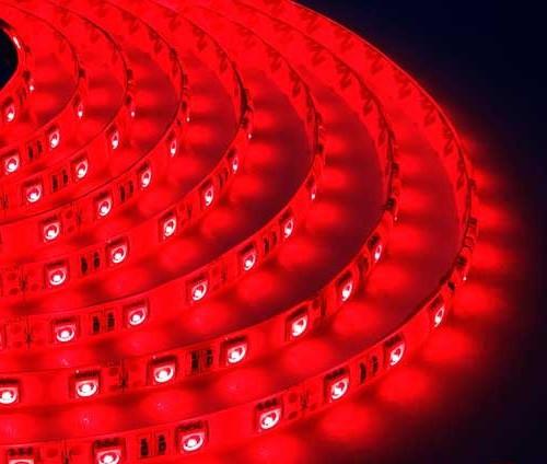 Светодиодная лента B-LED 5050-60 R IP65 красный, герметичная, 5метров