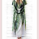 Туника пляжная женская Листья тропиков, фото 2