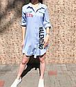 Платье рубашка Valentino (голубое), фото 5