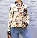 Рубашка женская Цепи и тигр, фото 2