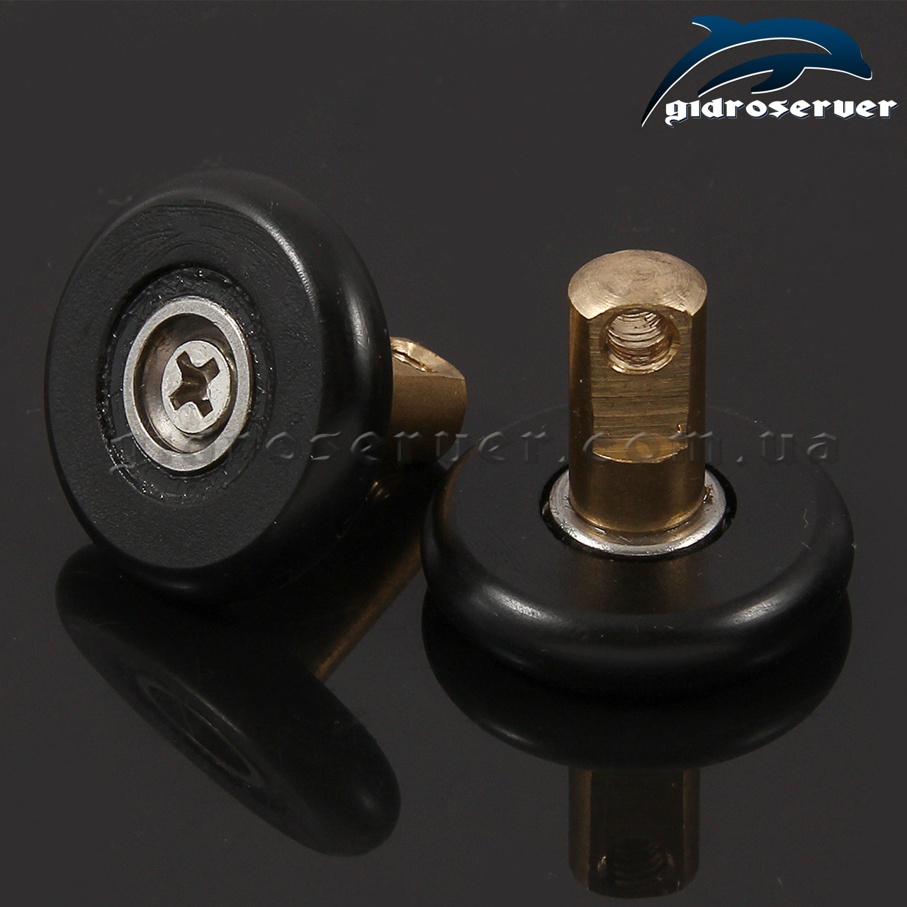 Сменная ось для роликов душевых кабин, гидробоксов OSN-01 со съемным колесом KN-01.