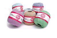Madame Tricote Maxi , пряжа для вязания 100% мерсеризованный хлопок.