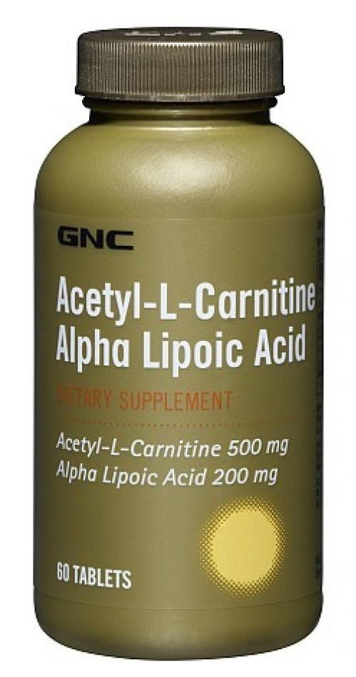 GNC Acetyl-L-Carnitine Alpha-Lipoic Acid 60 tabs