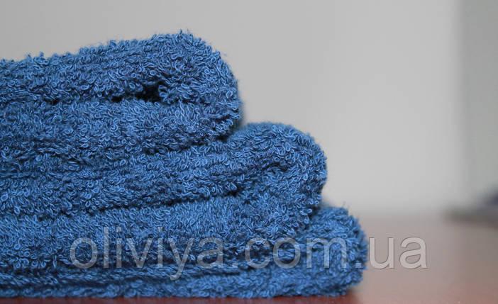 Простынь махровая 150х220 100% хлопок темно-синяя, фото 2
