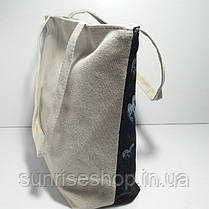 Сумка текстильная летняя для пляжа и прогулок, фото 2