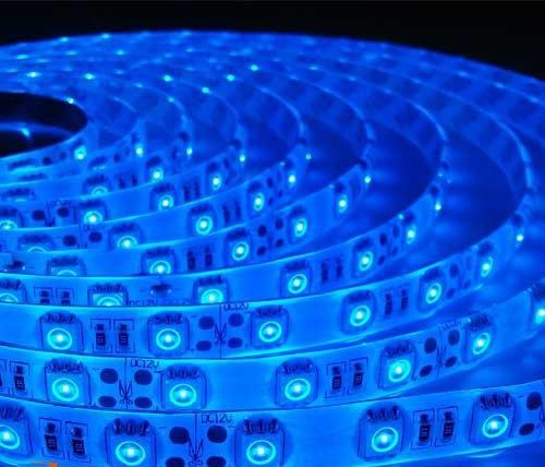 Светодиодная лента B-LED 5050-60 B IP65 синий, герметичная, 5метров