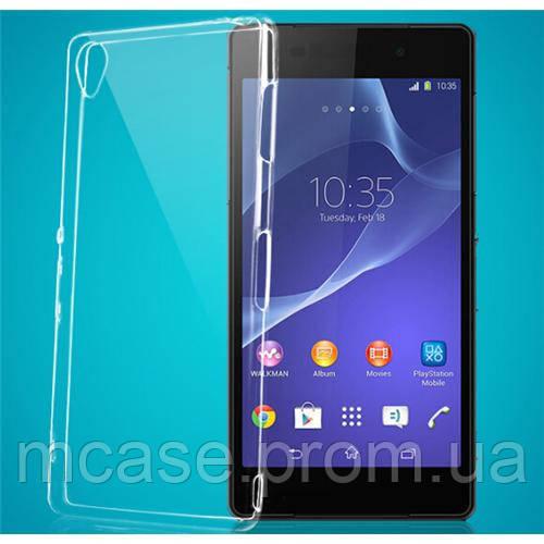 Силиконовый чехол для Sony Z2 прозрачный