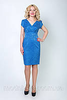 Синее платье увеличеных размеров