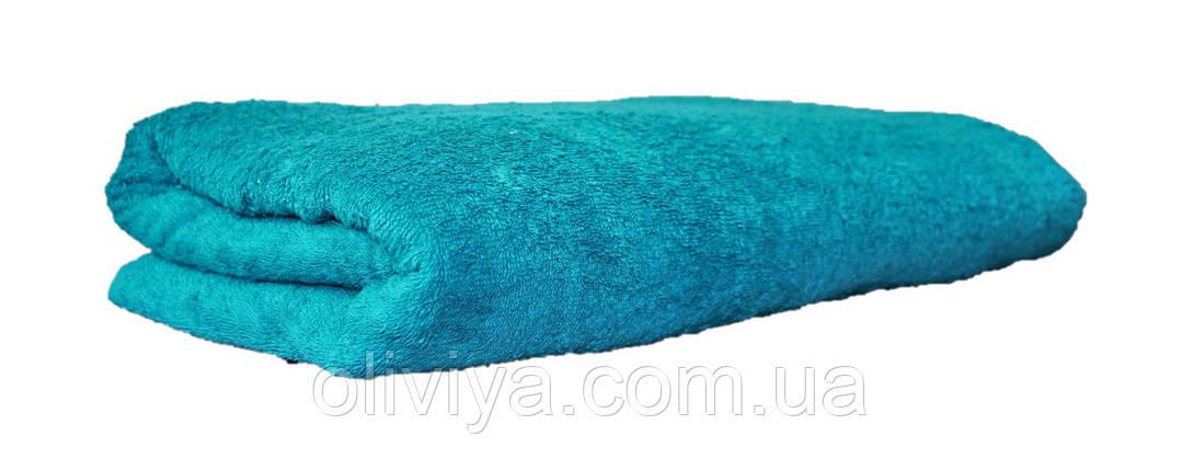 Простынь махровая 100 % хлопок  морская волна, фото 2
