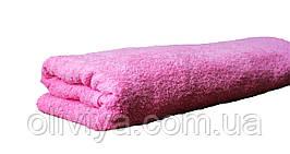 Простынь махровая 100% хлопок розовая