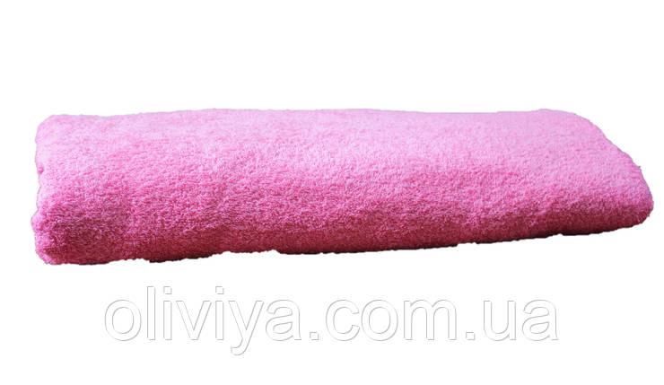 Простынь махровая 100% хлопок розовая, фото 2