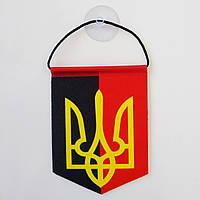 Вымпел ОУН-УПА с гербом Украины , 10,5х7,5 см.