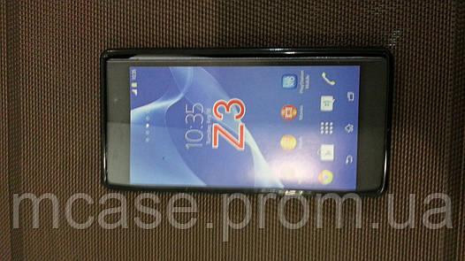 Силиконовый чехол для Sony Z3 черный