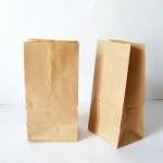 Пакет бумажный крафт плотный с дном 365х155х90