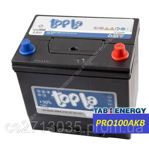 Автомобильный аккумулятор Topla top asia 60 Ач 600 А (1) L+