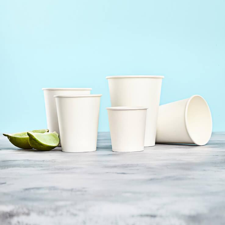 Белый бумажный (картонный) одноразовый стакан 175 мл, 100 шт
