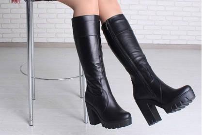 Сапоги женские на высоком каблуке. Риск или достижение цели?