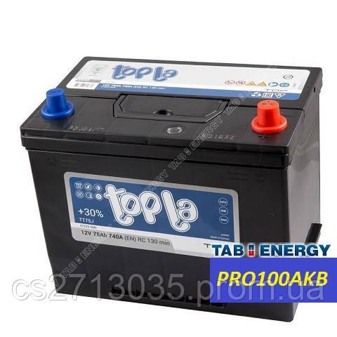 Автомобильный аккумулятор Topla top asia 75 Ач 740 А (0) R+