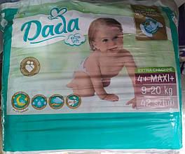 Подгузники Dada extra soft  new р.4+ 9-20 кг 42 шт. Польша