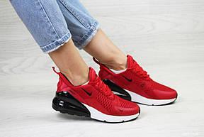 Летние женские кроссовки Nike Air Max 270, сетка,красные, фото 2
