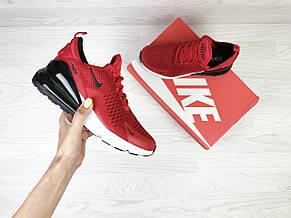Летние женские кроссовки Nike Air Max 270, сетка,красные, фото 3