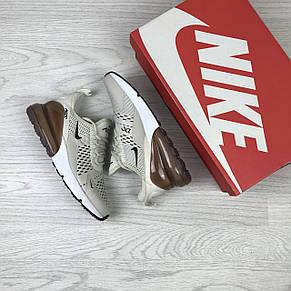 Летние женские кроссовки Nike Air Max 270, сетка,бежевые, фото 2