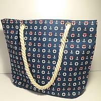 Пляжная сумка Морской принт опт и розница