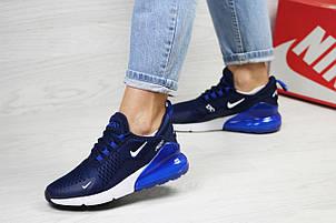Летние подростковые кроссовки Nike Air Max 270, сетка,синие, фото 2