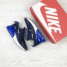 Летние подростковые кроссовки Nike Air Max 270, сетка,синие, фото 3