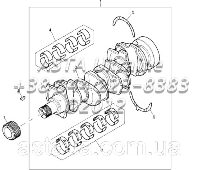 Вал, подшипник детали двигателя 1104C-44T, RG38101 G1-2-2
