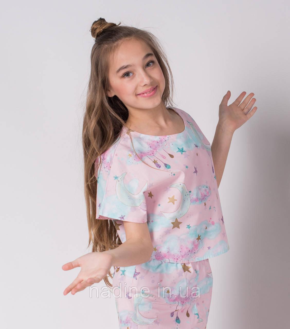 Хлопковая пижама Eirena Nadine (784-64) Month 164/42 нежно розовая
