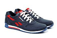 Мужские кожаные кроссовки Anser Reebok New Line dark blue red реплика