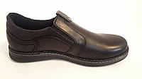 Чоловічі шкіряні туфлі Kristan black old school , фото 1